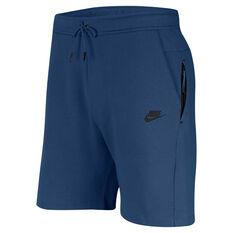 Nike Mens Sportswear Tech Fleece Shorts Blue S, Blue, rebel_hi-res
