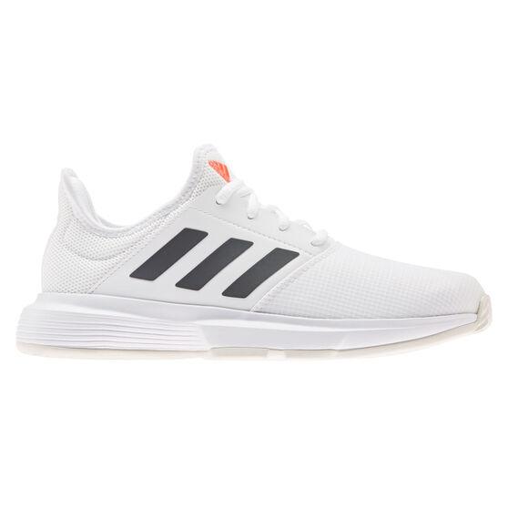 adidas GameCourt Womens Tennis Shoes, White/Black, rebel_hi-res