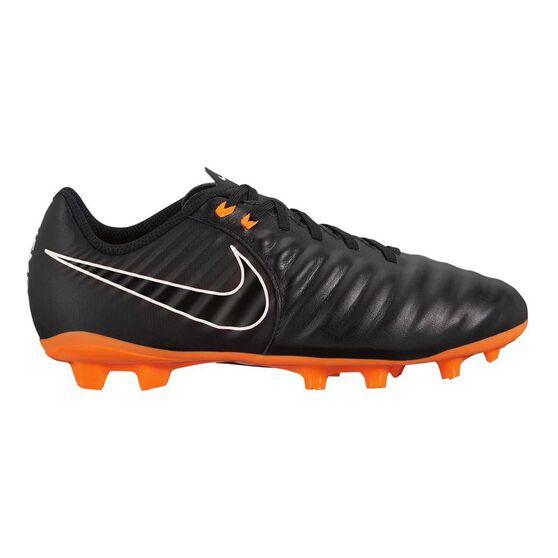 Nike Tiempo Legend VII Academy FG Junior Football Boots Black / White US 4, Black / White, rebel_hi-res