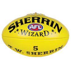 Sherrin Wizard Australian Rules Football Yellow 3, Yellow, rebel_hi-res
