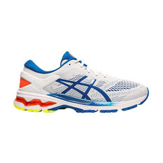 Asics GEL Kayano 26 Mens Running Shoes White / Blue US 7, White / Blue, rebel_hi-res