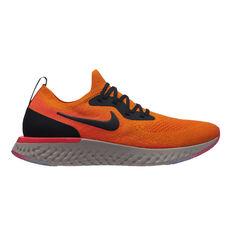 Nike Epic React Flyknit Mens Running Shoes Orange / Black US 7, Orange / Black, rebel_hi-res