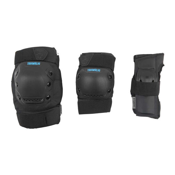Tahwalhi 3 Piece Safety Pads, Black, rebel_hi-res
