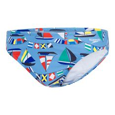 Speedo Mens Escape 5cm Ragatta Brief Blue 14, Blue, rebel_hi-res