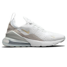 Nike Air Max 270 Essential Womens Casual Shoes White/Grey US 5, White/Grey, rebel_hi-res