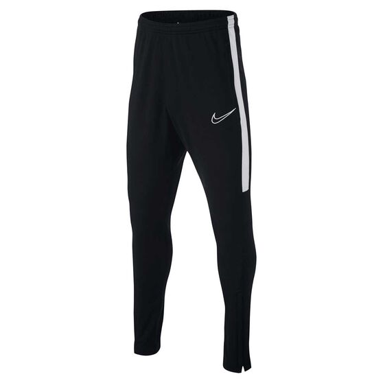 Nike Boys Dri-FIT Academy Football Pants, Black / White, rebel_hi-res