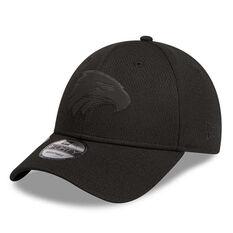 West Coast Eagles New Era 9FORTY Black on Black Cap, , rebel_hi-res