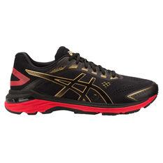 Asics GT 2000 7 Mens Running Shoes Black / Gold US 7, Black / Gold, rebel_hi-res