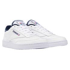 Reebok Club C 85 Mens Casual Shoes, White/Navy, rebel_hi-res