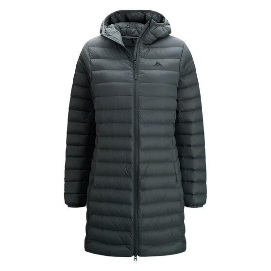 Macpac Womens Uber Light Long Jacket, Black, rebel_hi-res