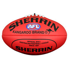 Sherrin Soft Touch Junior Australian Rules Ball Red 8in, Red, rebel_hi-res