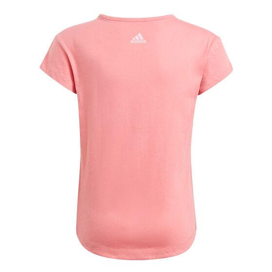 Adidas Girls Logo Tee, Pink, rebel_hi-res