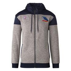 Adelaide Crows 2021 Mens Ultra Hoodie Grey S, Grey, rebel_hi-res
