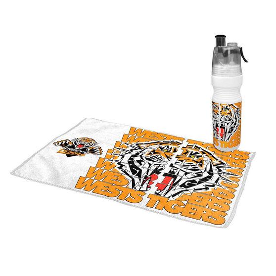Wests Tigers 2019 Water Bottle and Gym Towel Pack, , rebel_hi-res