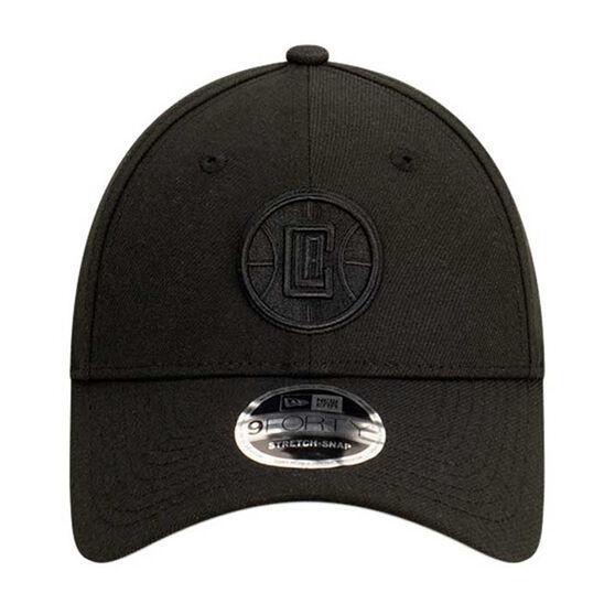 Los Angeles Clippers New Era Black on Black 9FORTY Snapback, , rebel_hi-res