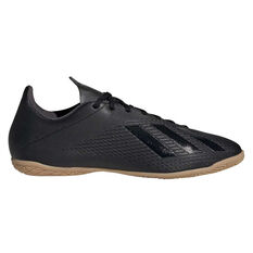 adidas X 19.4 Indoor Soccer Shoes Black US Mens 7 / Womens 8, Black, rebel_hi-res