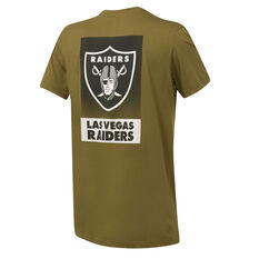 Las Vegas Raiders Mens Pattison Tee Green S, Green, rebel_hi-res
