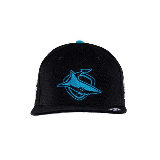 Cronulla-Sutherland Sharks 2020 Media Cap, Black, rebel_hi-res