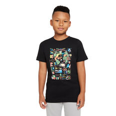 Nike Kids Sportswear Worldwide Icon Tee Black XS, Black, rebel_hi-res