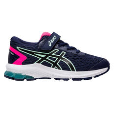 Asics GT 1000 9 Kids Running Shoes US 11 Navy / Pink, , rebel_hi-res