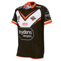 Wests Tigers 2021 Mens Home Jersey Black XS, Black, rebel_hi-res