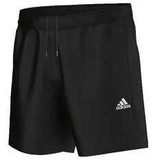 adidas Mens Essential Chelsea Shorts Black / White S Adult, Black / White, rebel_hi-res