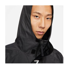 Nike Mens Air Hooded Lined Jacket, Black, rebel_hi-res