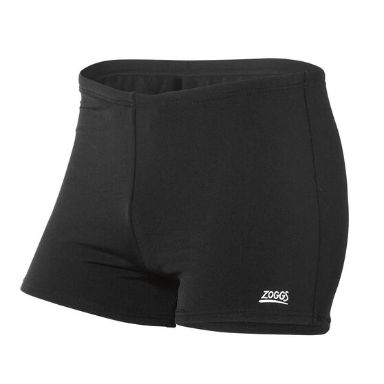 Zoggs Mens Cottesloe Hip Racer Trunk, Black, rebel_hi-res