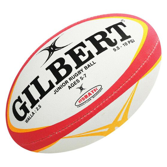 Gilbert Zenon Pathways Wallabies Rugby Ball White / Yellow 2.5, , rebel_hi-res