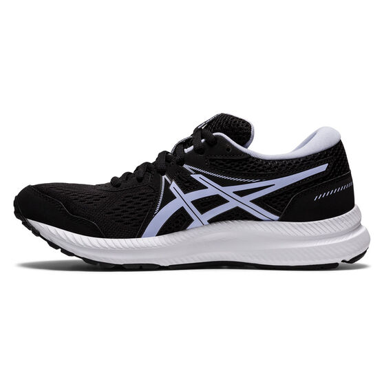 Asics GEL Contend 7 Womens Running Shoes, Black/Lilac, rebel_hi-res