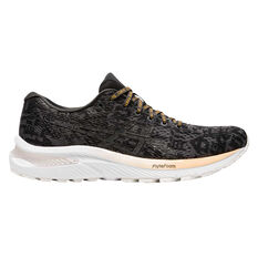 Asics GEL Cumulus 22 EDO Era Womens Running Shoes Black/Grey US 6.5, Black/Grey, rebel_hi-res