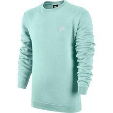 Nike Mens Sportswear Club Crew Sweater Teal XS, Teal, rebel_hi-res