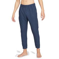 Nike Mens Dri-Fit Fleece Yoga Pants Navy S, Navy, rebel_hi-res