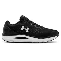 Under Armour Charged Intake 4 Mens Running Shoes, Black / Yellow, rebel_hi-res
