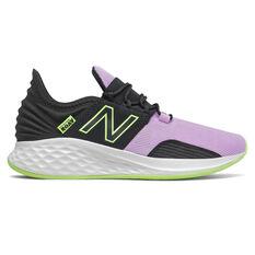 New Balance Fresh Foam Roav Kids Running Shoes Black/Pink US 4, Black/Pink, rebel_hi-res