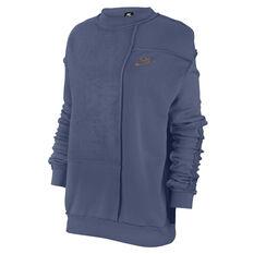 Nike Womens Sportswear Icon Clash Fleece Sweatshirt Black XS, , rebel_hi-res