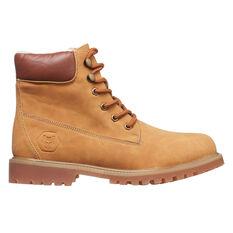Tahwalhi Womens Snow Plough Boots Brown US 6, Brown, rebel_hi-res
