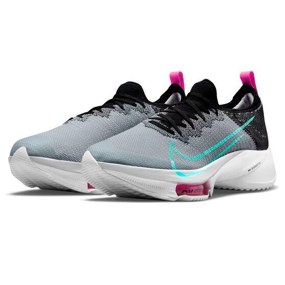 Nike Air Zoom Tempo Next% Mens Running Shoes, Black/Aqua, rebel_hi-res