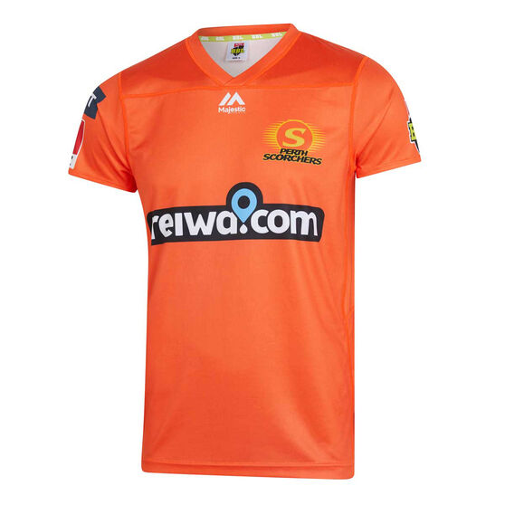 Perth Scorchers 2019/20 Kids BBL Jersey, Orange, rebel_hi-res