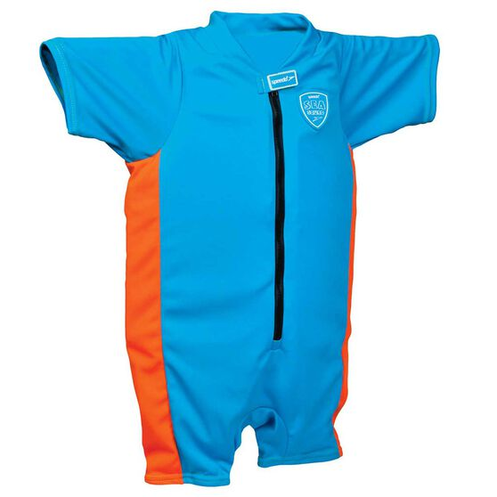 Speedo Sea Squad Junior Boys Float Suit Blue 3 - 4, Blue, rebel_hi-res