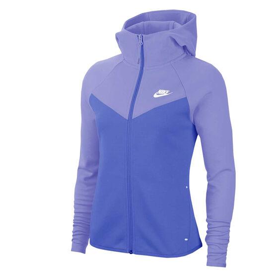 Nike Womens Sportswear Windrunner Tech Fleece Full Zip Hoodie, Blue, rebel_hi-res