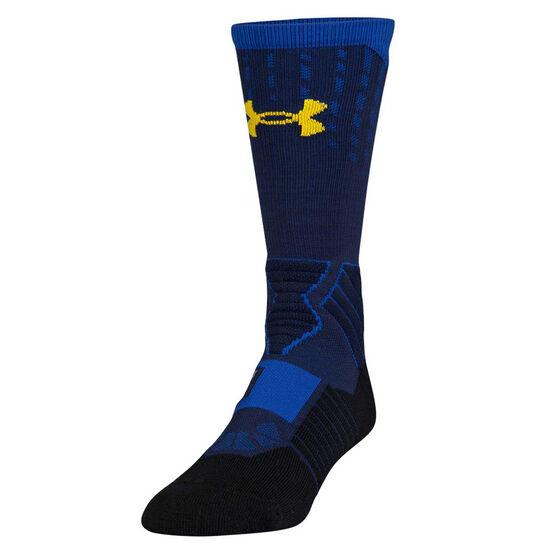 Under Armour Mens SC30 Drive Crew Sock Navy L, Navy, rebel_hi-res