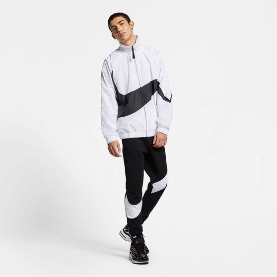 Nike Mens Sportswear Swoosh Statement Windbreaker, White, rebel_hi-res