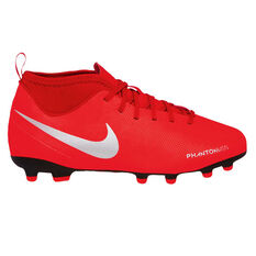 Nike Phantom Vision Club Kids Football Boots Red / Silver US 1, Red / Silver, rebel_hi-res
