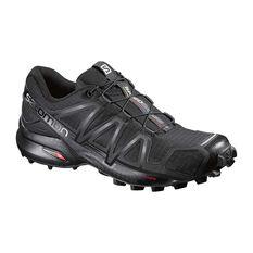 Women's Speedcross 4 Trail Shoes Black / Metal UK 4.5, Black / Metal, rebel_hi-res