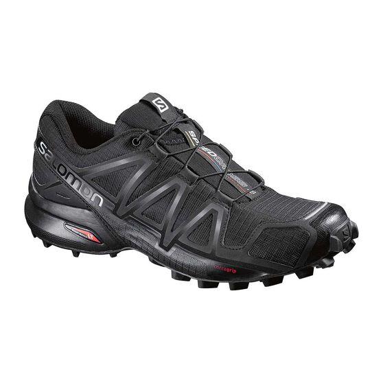Women's Speedcross 4 Trail Shoes, Black / Metal, rebel_hi-res