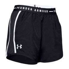 Under Armour Womens UA Fly By Exposed Shorts Black XS, Black, rebel_hi-res