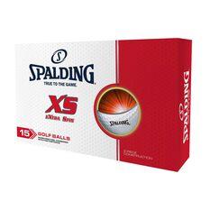 Spalding XS 15 Pack Golf Balls White, , rebel_hi-res