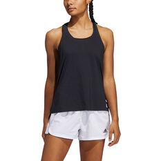 adidas Womens Elevate Training Tank Black XS, Black, rebel_hi-res