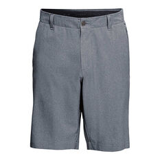 Under Armour Mens Showdown Vented Shorts Grey / White 30, Grey / White, rebel_hi-res